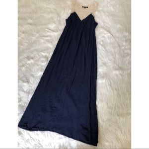 Forever 21 Dresses - Navy Blue Crochet Maxi Dress